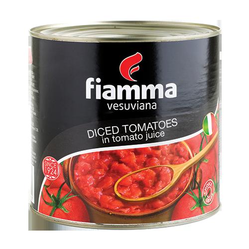 Fiamma Vesuviana diced tomatoes 3000g